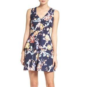 Adelyn Rae | Floral Ruffle A-Line Dress